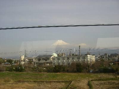 東海車窓からの富士山