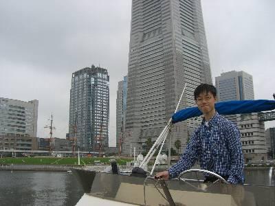 横浜で記念写真