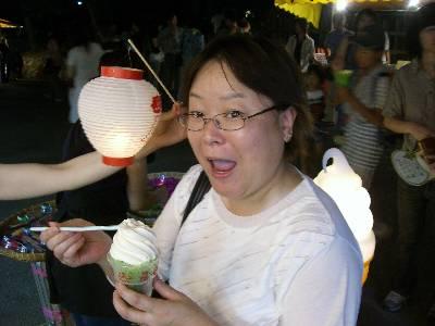 アイスクリームと提灯と姉