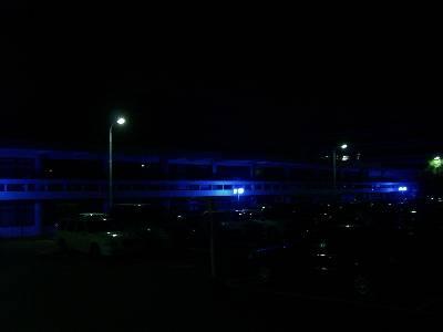 妖しく光る奈良県庁