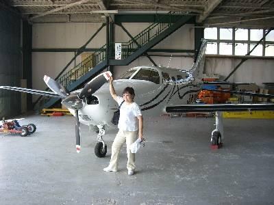 姉と飛行機 (機種名不詳)