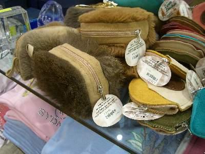 カンガルー皮革のバッグ