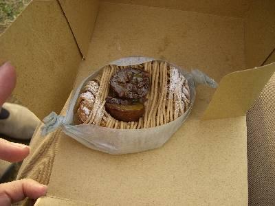 モンブラン風パン