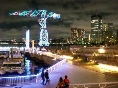 桟橋の夜景