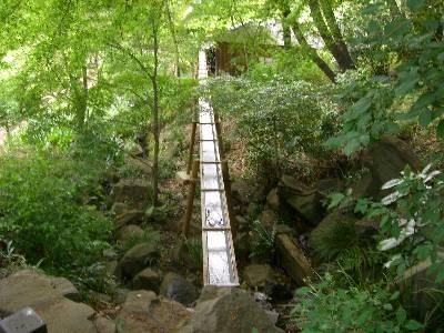 水車への導水水路