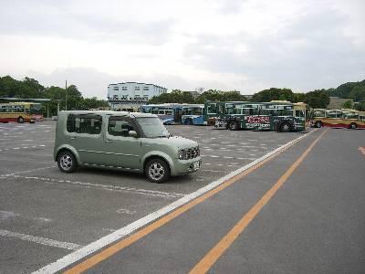 臨時駐車場になっていた、かなちゅう野津田車庫