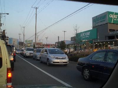 多摩境の渋滞