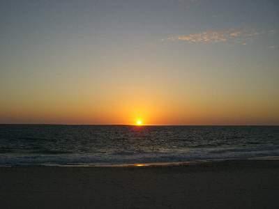 サンセットコースト、インド洋に沈む夕日