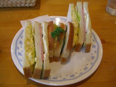 山パントーストミックスサンドイッチ