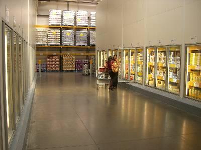 冷凍商品コーナー