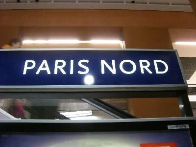 パリ北 PARIS NORD 駅