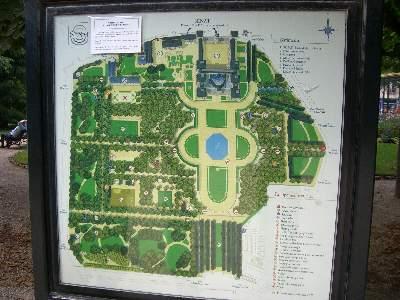 リュクサンブール公園 Jardin du Luxembourg 案内図