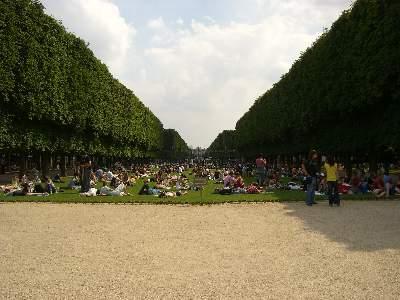 リュクサンブール公園中央南側の芝生