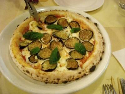 茄子のピザ