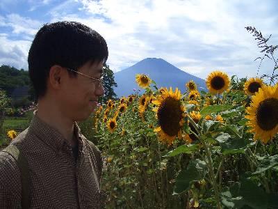 富士山とひまわりと奥村