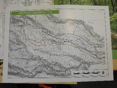 今回の自然観察会ルートの地図
