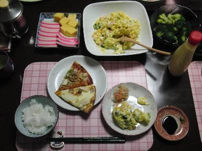 和洋ごちゃまぜの夕食