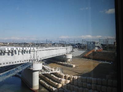 新線を建設中の伊勢中川駅短絡線