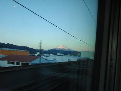 富士山 (静岡駅通過してしばらくしたあたりから)