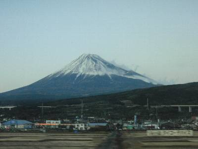 富士山 (新富士駅出発してしばらくしたあたりから)