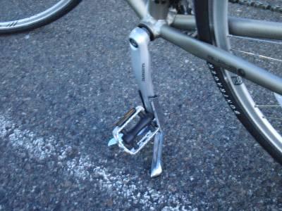 和久さんの自転車のスタンド