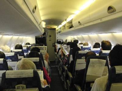 ボンバルディア DHC8-Q300 機内