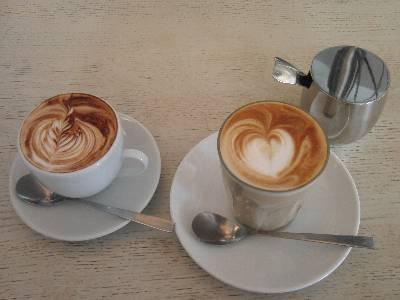 カプチーノとカフェラテ