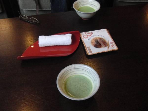 ウエルカム抹茶と、やま柿