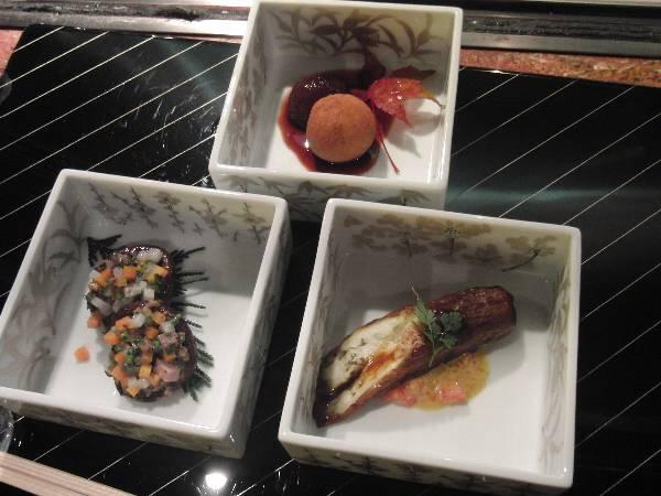 筍野菜: 秋ナス、シイタケ、栗