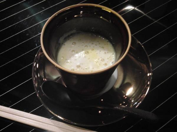 サツマイモのスープカプチーノ仕立て