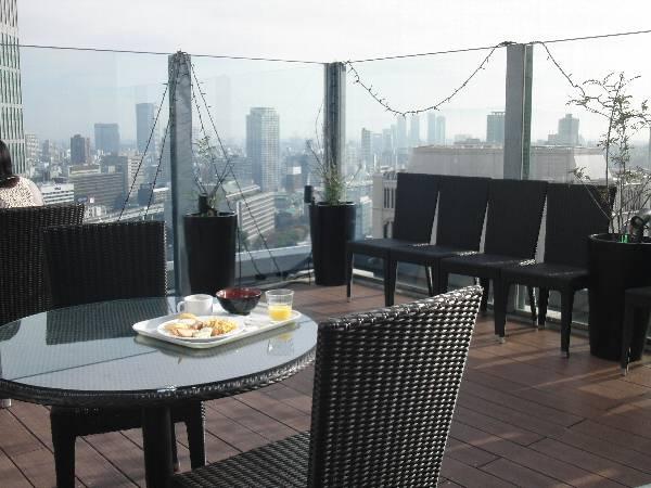 APA ホテル大阪肥後橋駅前 30F レストランのテラス席からの眺望