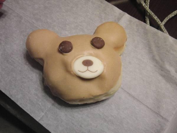 デザートのエンゼルテディパン・くまキャラメル・ドーナツ