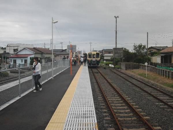 綺麗になった阿字ヶ浦駅のホーム