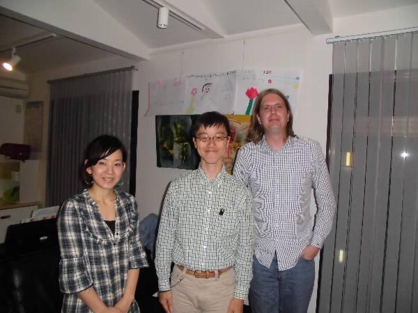 Chris (center), Nishitani-san (left) and me