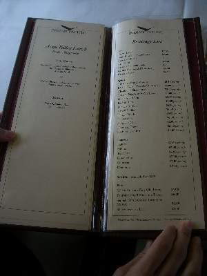 メニューメインのページと 1 ページ目の飲み物ページ