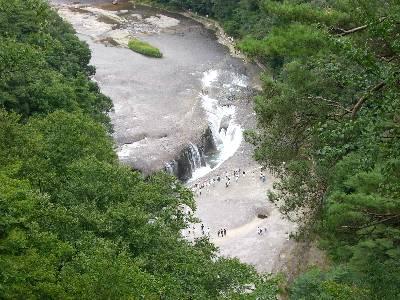 第 1 観瀑台からの吹割滝