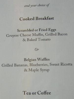 The Golden Mile Breakfast メニュー後半