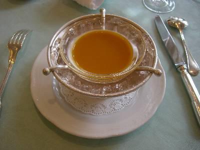 冷たいカボチャのスープ