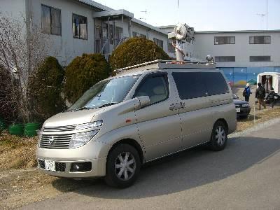 テレビ朝日の取材車