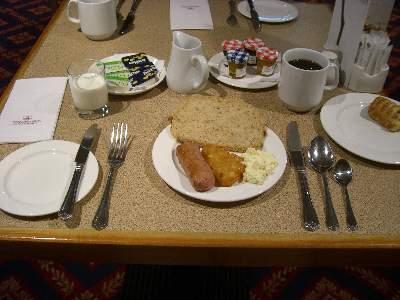 3 日目の朝食