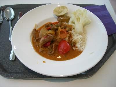 3 日目の昼食、タイ風カレーライス