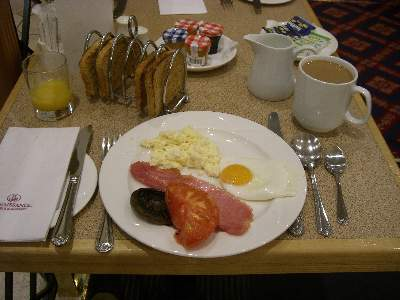 4 日目の朝食