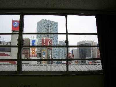 交通博物館 4 階の窓から望む現代秋葉原