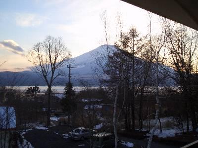 ペンション オステリア イゾラーナからの富士山